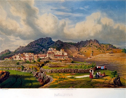 Grabado de Banyalbufar del Die Balearen