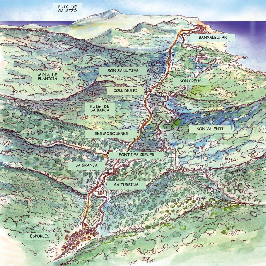 Mapa Esporles-Banyalbufar