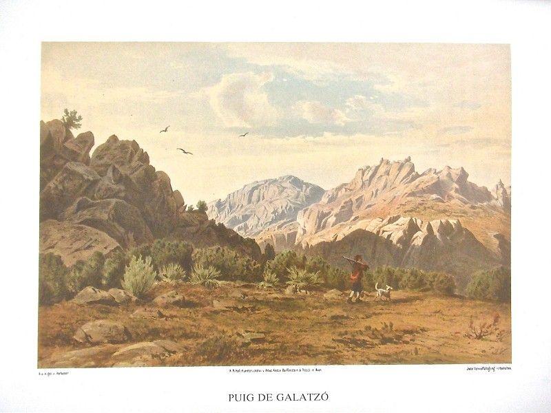 Grabado del Puig Galatzó del Die Balearen