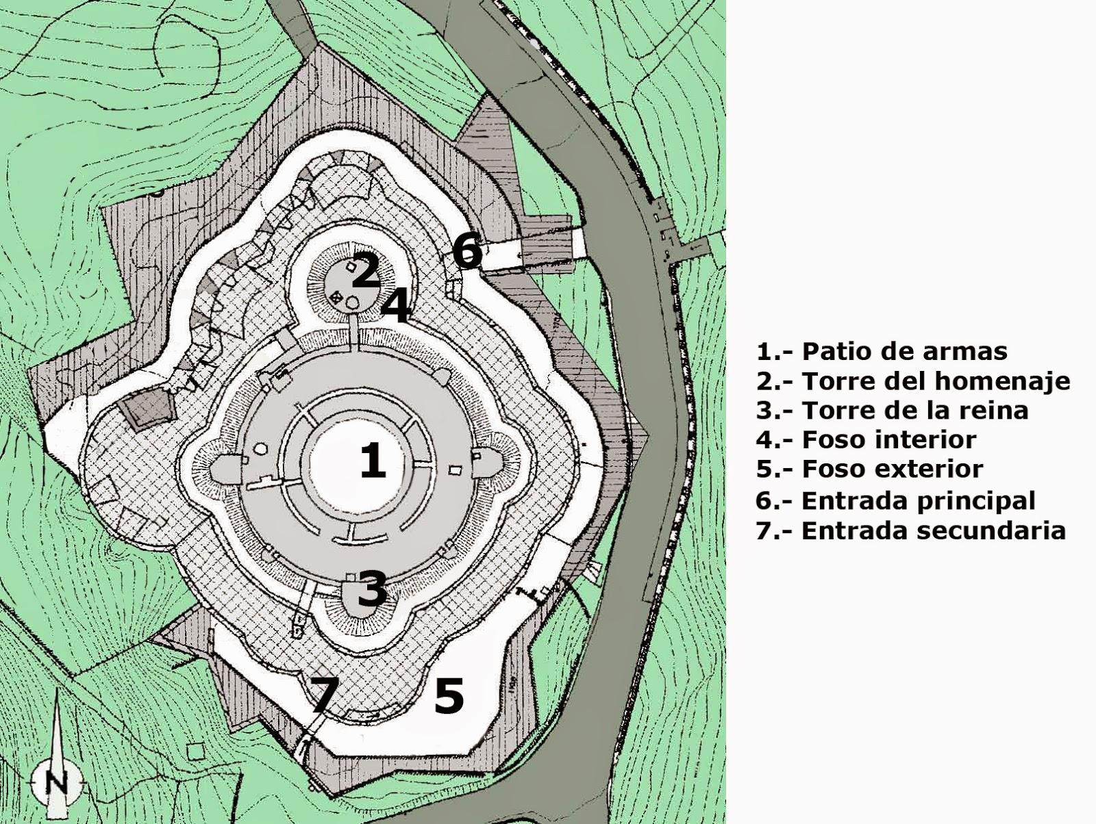 Plano del Castillo de Bellver