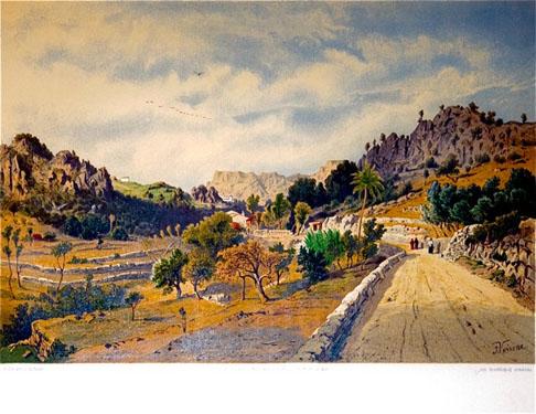 Die Balearen. Camino de Valldemossa