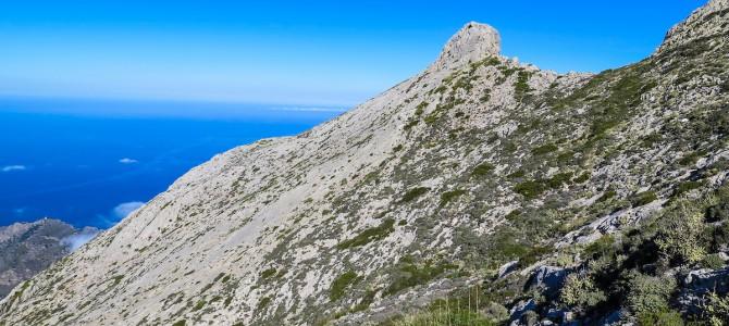 Morro de'n Pelut, Penyal de's Migdia, Coma de n'Arbona y Camí de's Cingles