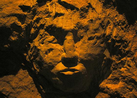 Escultura en la cuevas de Bellver
